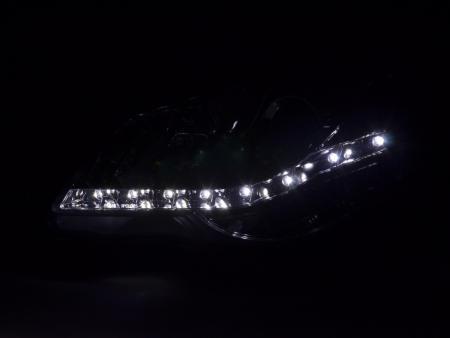 VW POLO 9N3 05-09 SCHEINWERFER DAYLINE SATZ LED TAGFAHRLICHT-OPTIK LINKS RECHTS